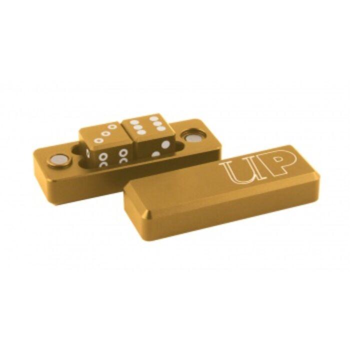 UP - Gravity Dice D6 - Gold - 2 Dice Set